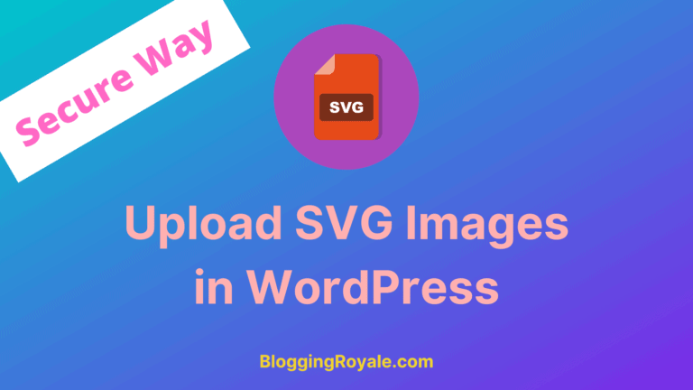 Upload SVG Images in WordPress