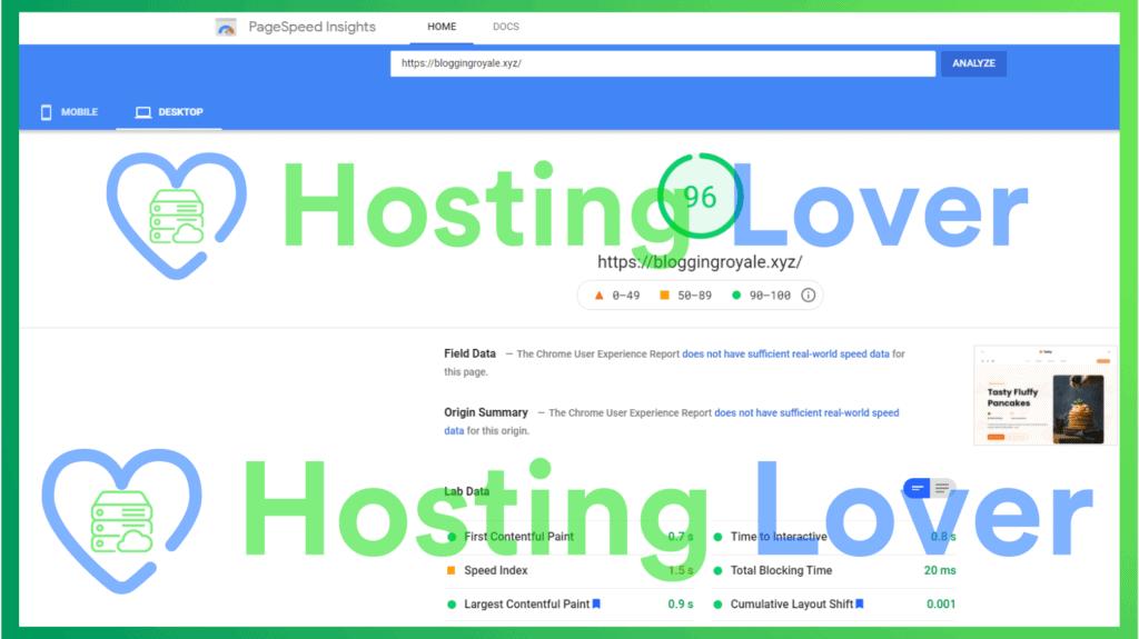 Hostinger Shared Hosting Speed Test Hosting Lover Google Pagespeed Insights Desktop Test 2