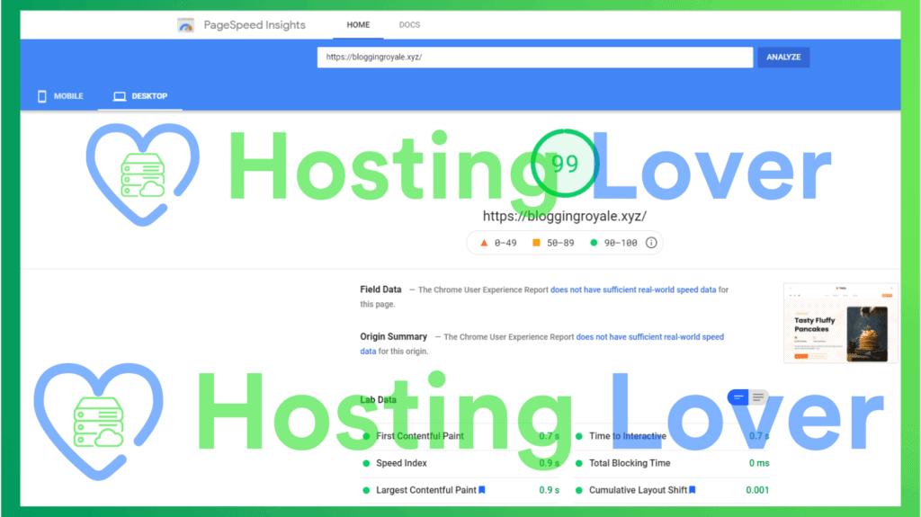 Hostinger Shared Hosting Speed Test Hosting Lover Google Pagespeed Insights Desktop Test 3