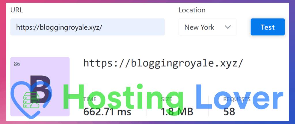 Hostinger Shared Hosting Speed Test Hosting Lover Website Speed Test New York